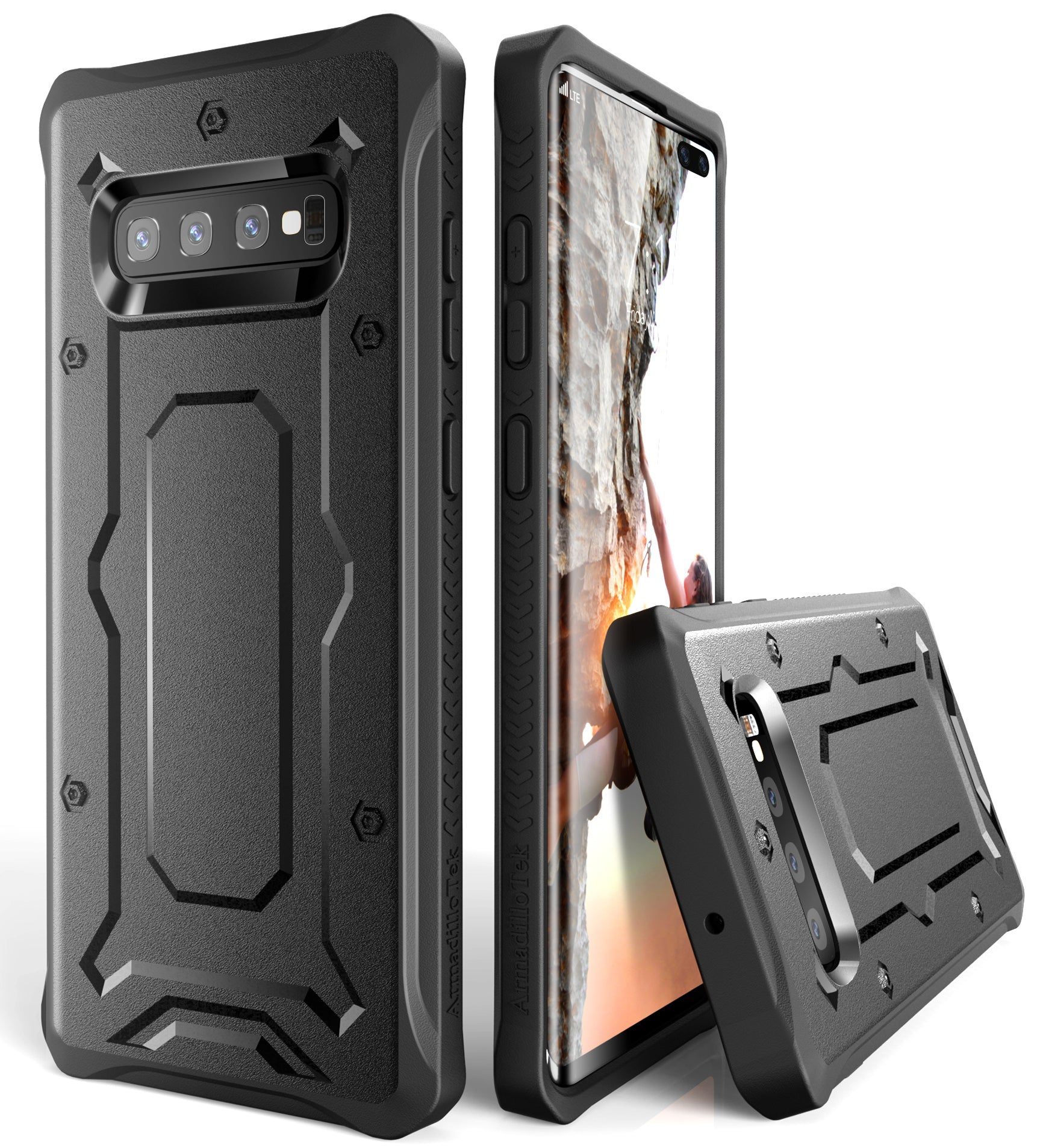 Urban Ranger Series Galaxy S10+ Plus Case - Black - AmardilloTek