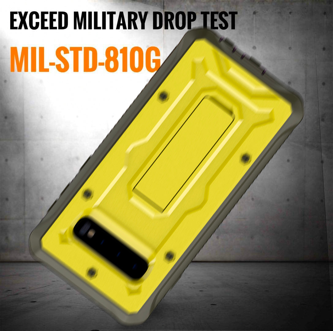 Vanguard Series Galaxy S10+ Plus Case - Yellow - AmardilloTek