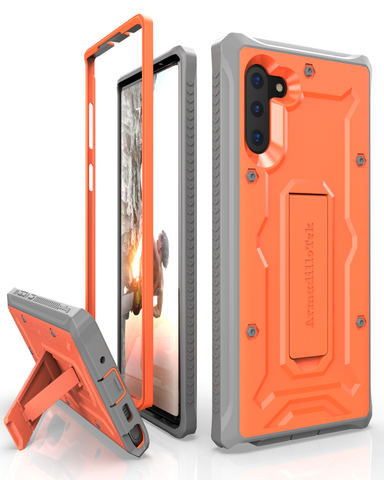 Vanguard Series Samsung Galaxy Note10 Case - Orange - AmardilloTek
