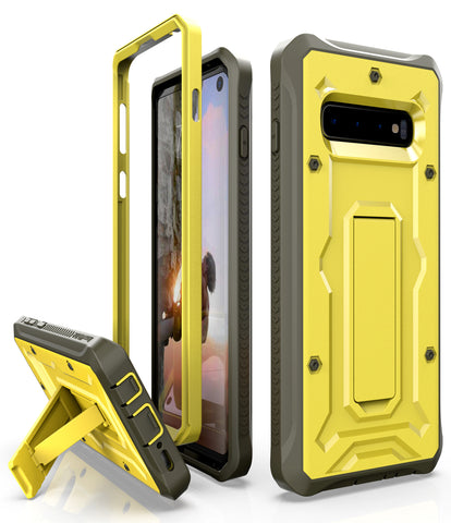Vanguard Series Galaxy S10 Case - Yellow - AmardilloTek