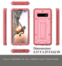 Load image into Gallery viewer, Vanguard Series Galaxy S10+ Plus Case - Pink - AmardilloTek