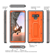 Load image into Gallery viewer, Vanguard Series Galaxy Note 9 Case - Orange - AmardilloTek