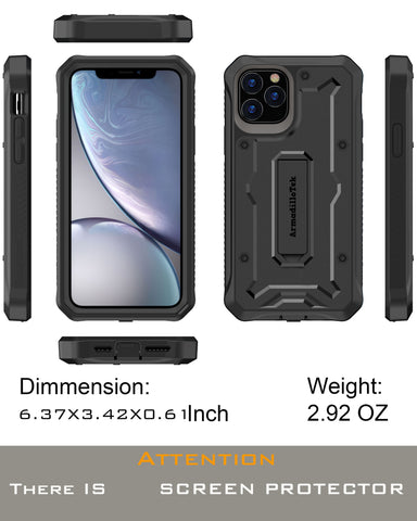 Vanguard Series Apple iPhone 11 Pro MAX Case - Black - AmardilloTek