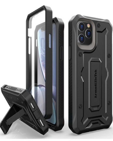 Vanguard Series Apple iPhone 11 Pro MAX (6.5 inches) Case - Black - AmardilloTek