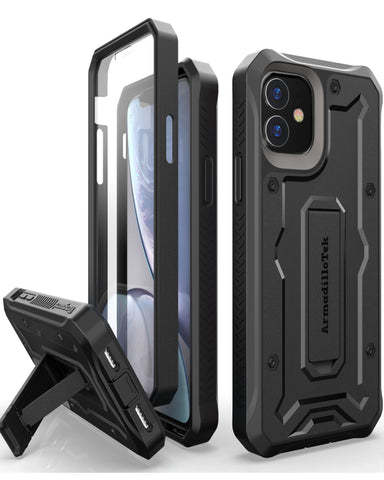 Vanguard Series Apple iPhone 11/ iPhone XR Case - Black - AmardilloTek