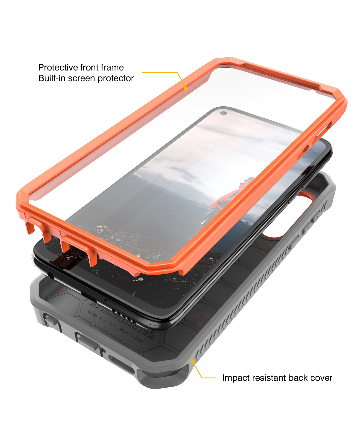 Vanguard Series Apple iPhone 11 Pro (5.8 inches) Case -Orange - AmardilloTek