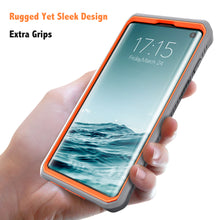 Load image into Gallery viewer, Vanguard Series Galaxy S10 Case - Orange - AmardilloTek