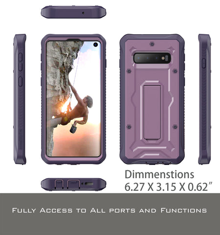 Vanguard Series Galaxy S10 Case - Purple - AmardilloTek