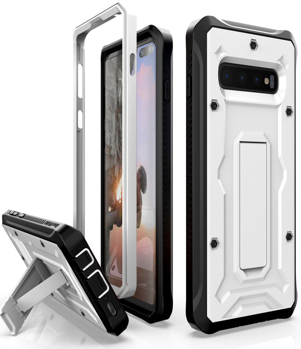 Vanguard Series Galaxy S10+ Plus Case - White - AmardilloTek