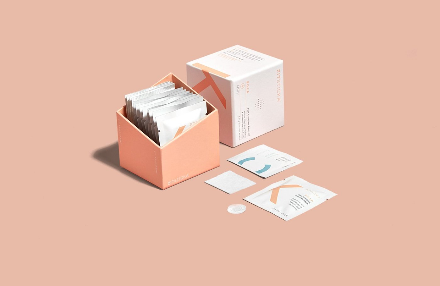 Zitsticka Product  KILLA™ KIT (8 patches  8 swabs) - Blush Rose