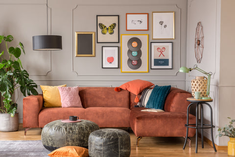 Eclectic. interior deign living room.