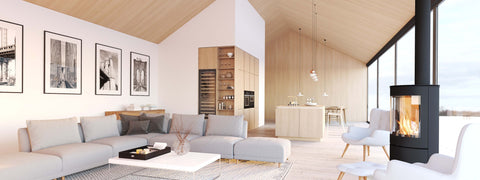 Scandinavian living room interior design.