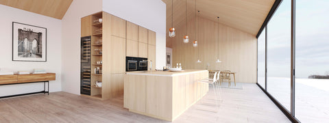 Scandinavian kitchen interior.