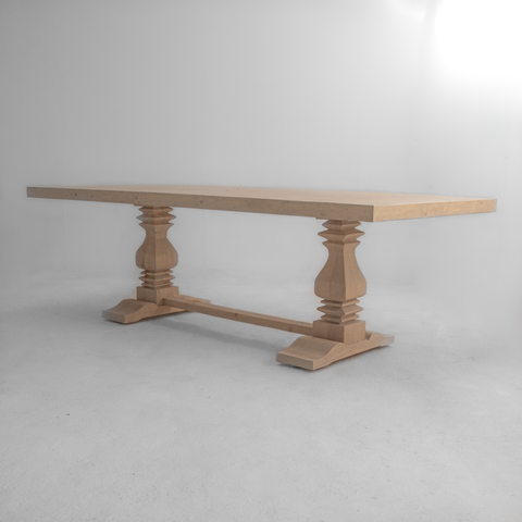 Wooden rustic table.