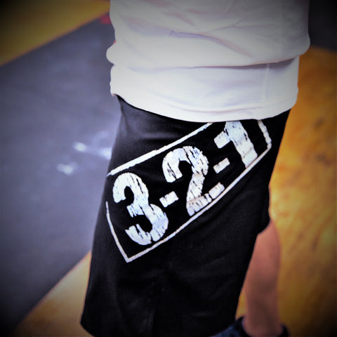 321 WOD Shorts Black Mens Shorts - 321Apparel - crossfit