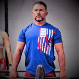 Modern Flag T-Shirt Mens T-Shirt - 321Apparel - crossfit