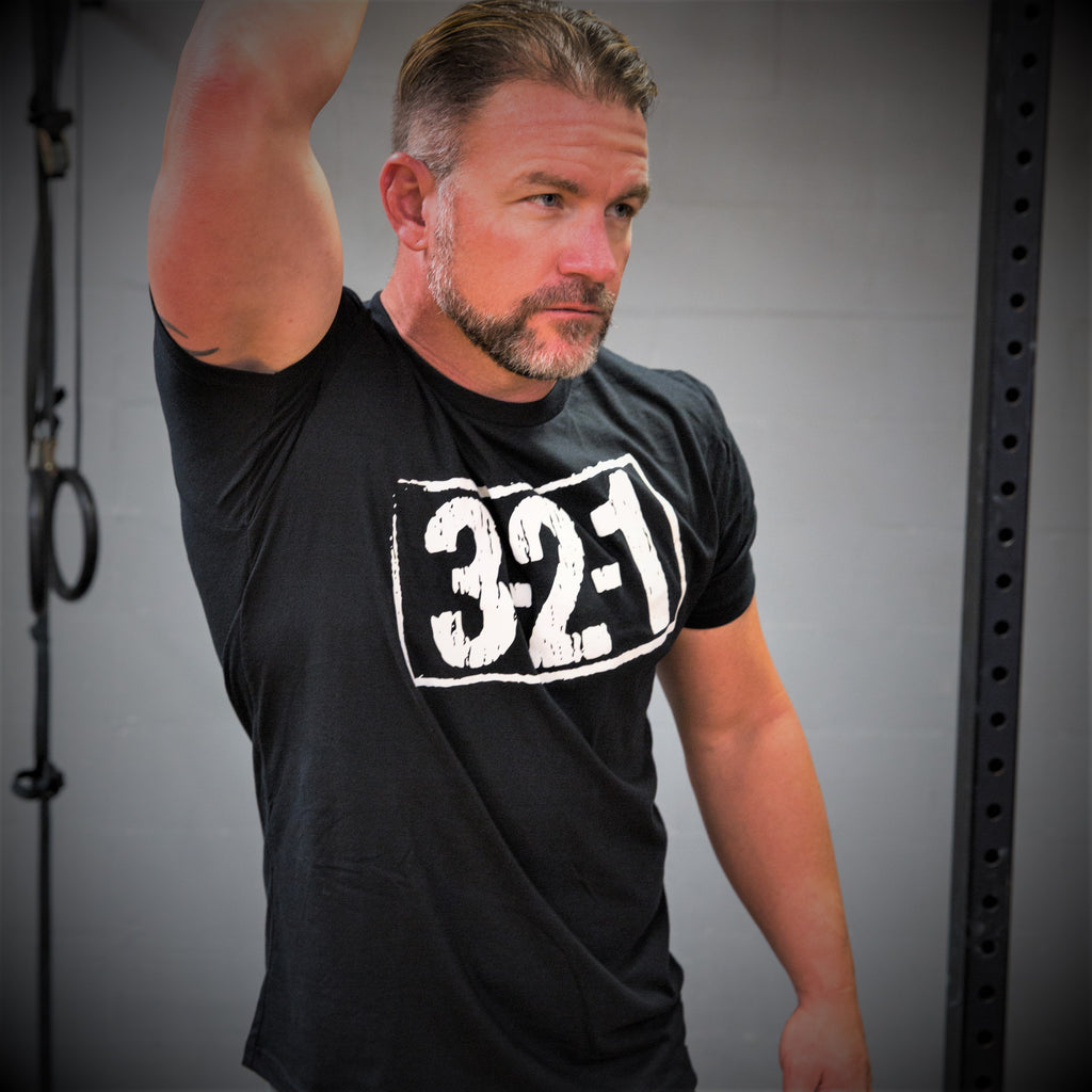321 T-Shirt Black Mens T-Shirt - 321Apparel - crossfit