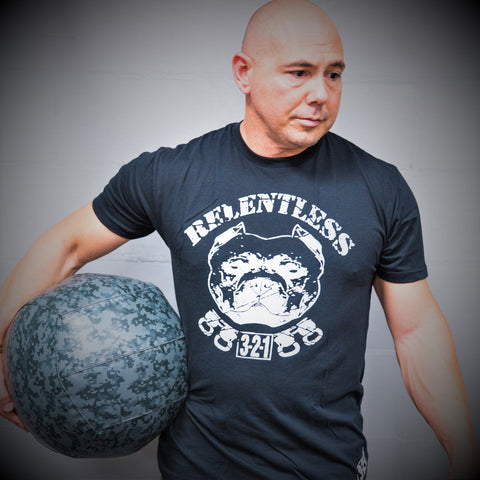 Pitbull T-Shirt Black Mens T-Shirt - 321Apparel - crossfit