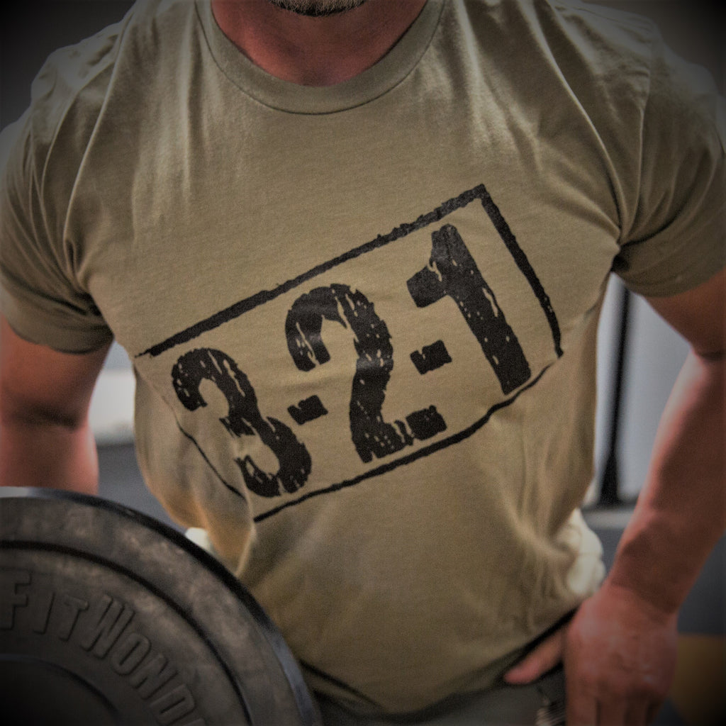 321 T-Shirt OD Green Mens T-Shirt - 321Apparel - crossfit