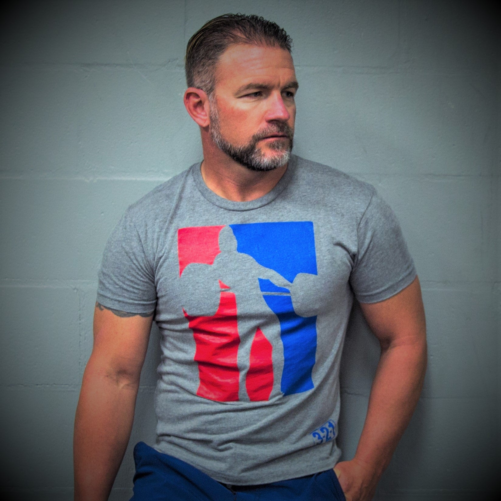 OLY T-Shirt Gray Mens T-Shirt - 321Apparel - crossfit