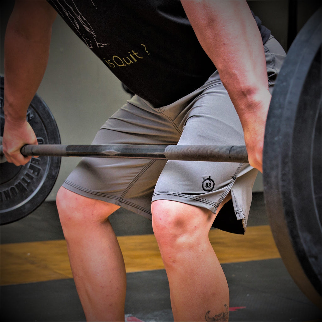321 Go Lite WOD Shorts Gray Mens Shorts - 321Apparel - crossfit