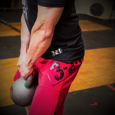 321 WOD Shorts Red Mens Shorts - 321Apparel - crossfit