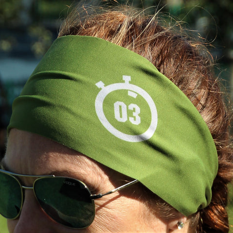 321 Stopwatch Headband-Military Green Accessories - 321Apparel - crossfit