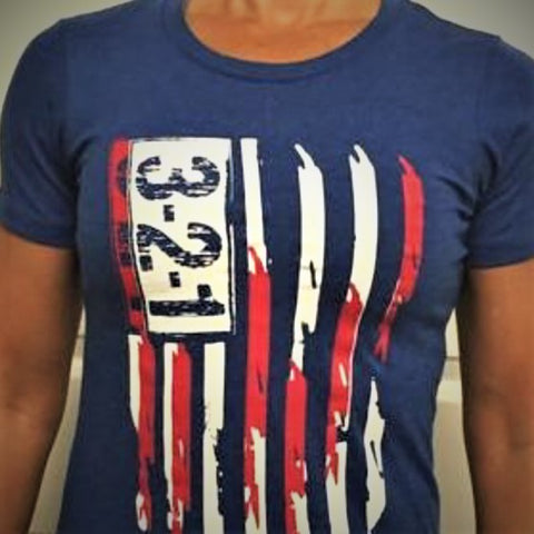Modern Flag T-Shirt Womens T-Shirt - 321Apparel - crossfit