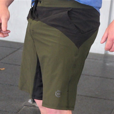 321 Go Lite WOD Shorts Green Mens Shorts - 321Apparel - crossfit