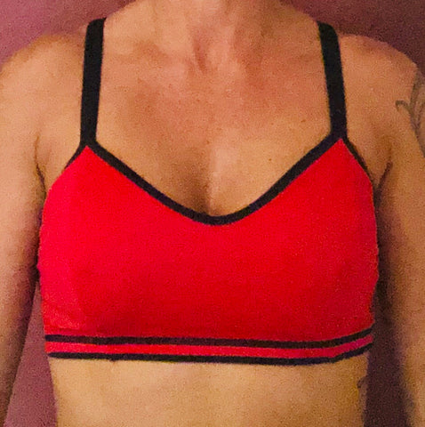 Red/Black Sports Bra