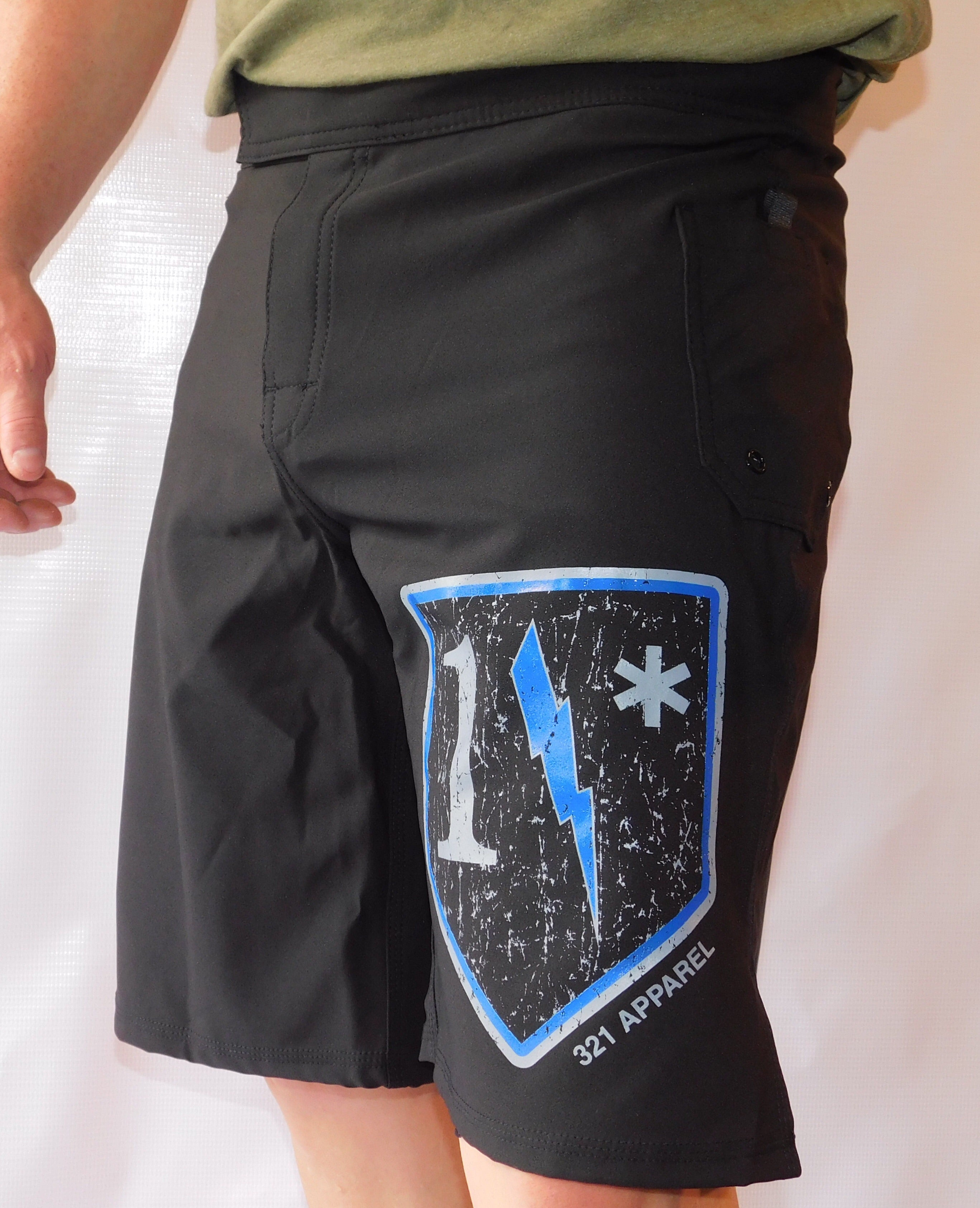 1* Blue WOD Shorts