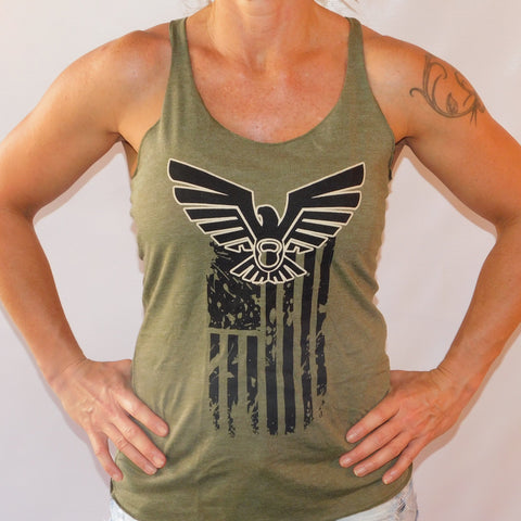 Eagle Flag Racerback