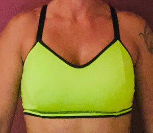 Neon Green/Black Sports Bra
