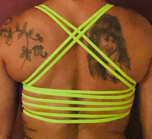 Purple/Neon Green Sports Bra