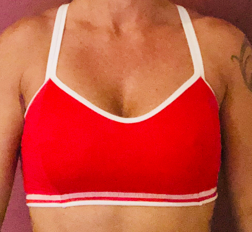 Red/White Sports Bra