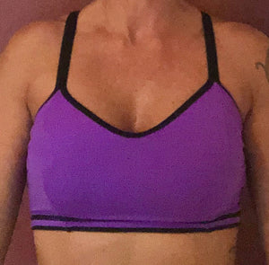 Purple/Black Sports Bra