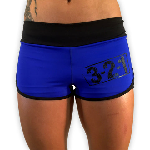 321 Apparel Women's Blue WOD Short - wod shorts