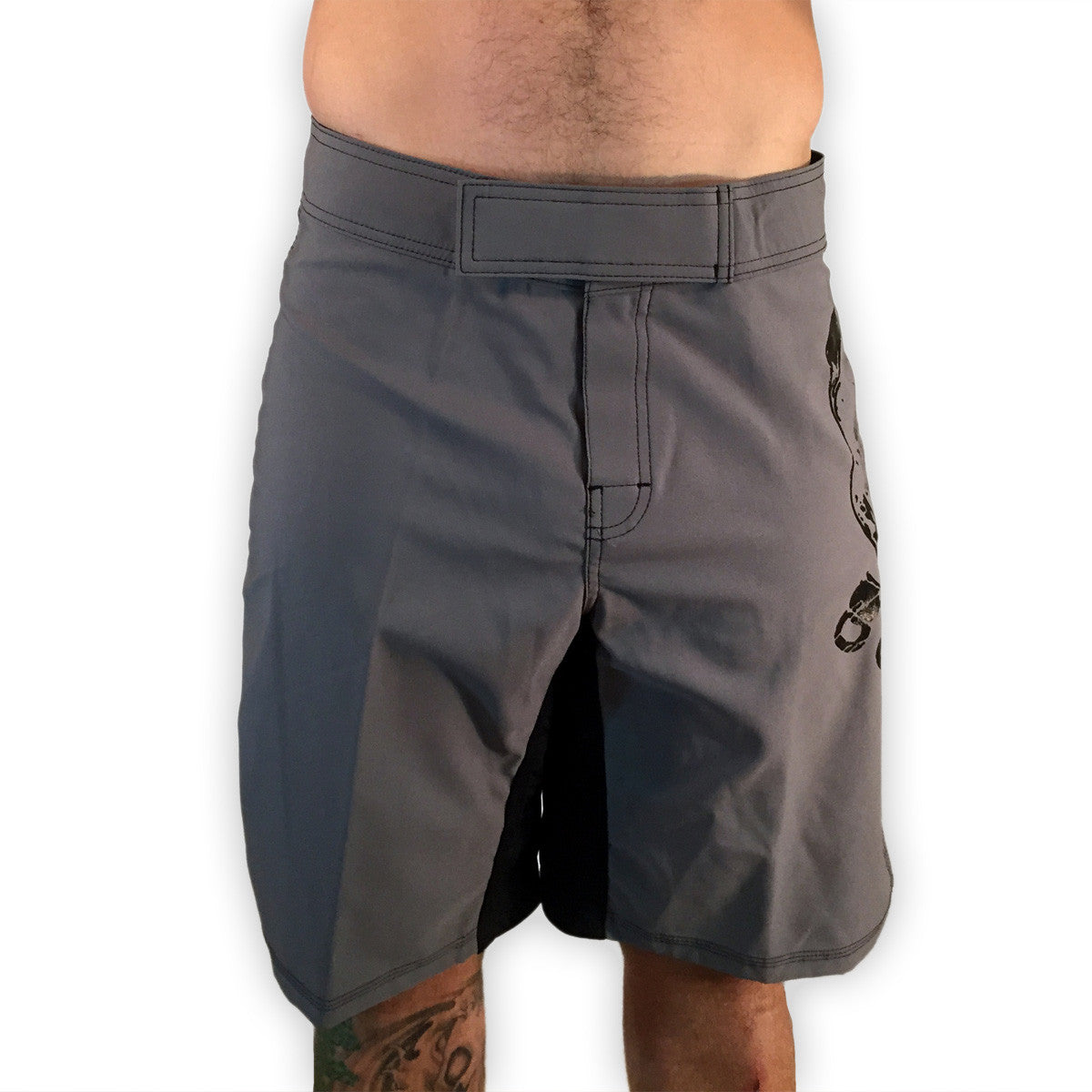 Pitbull WOD Shorts Gray Mens Shorts - 321Apparel