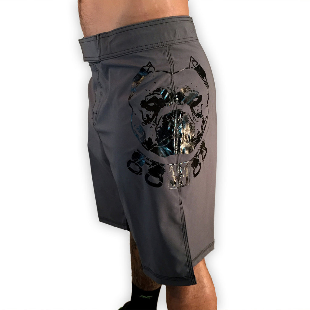Pitbull WOD Shorts Gray Mens Shorts - 321Apparel -pitbull shorts