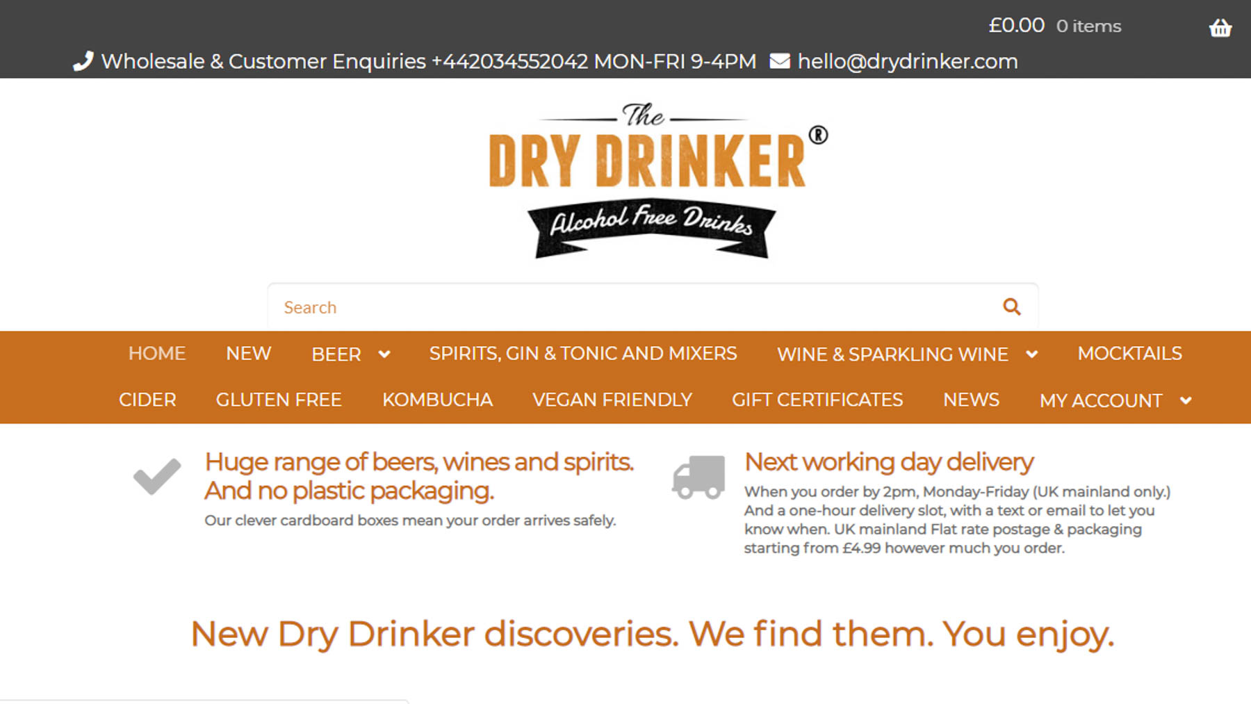 image of drydrinker.com web page