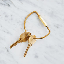 Load image into Gallery viewer, Brass Keychain
