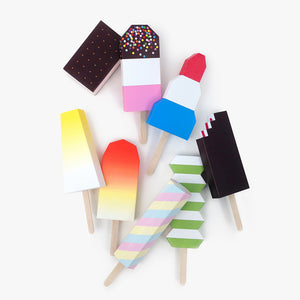 Paper Ice Lollies Set