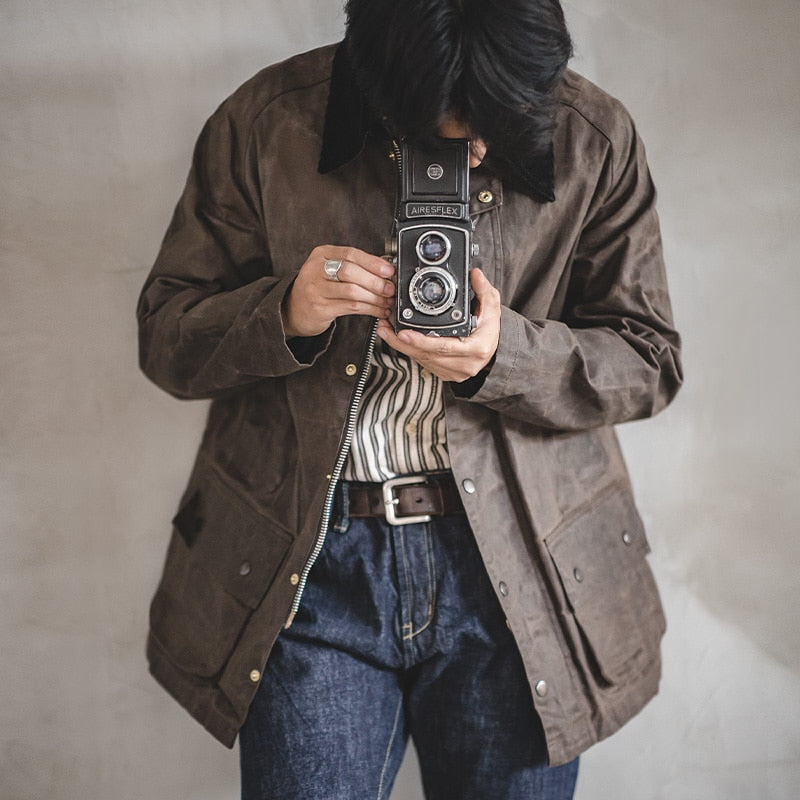 Men's Waxed Canvas Vintage Jacket | WhiskyWhiskey.Co