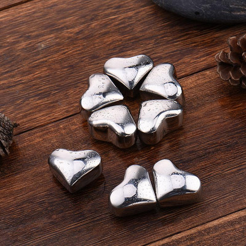 Hearts of Steel Whiskey Stones | WhiskyWhiskey.Co