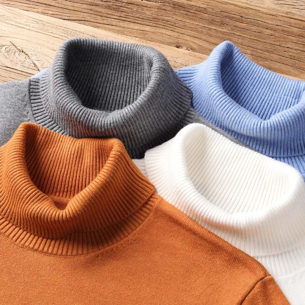 Men's Warm Turtleneck Casual Pullover | WhiskyWhiskey.co | Cloth