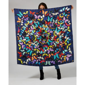 Lepidoptera Butterfly Print Silk Scarf