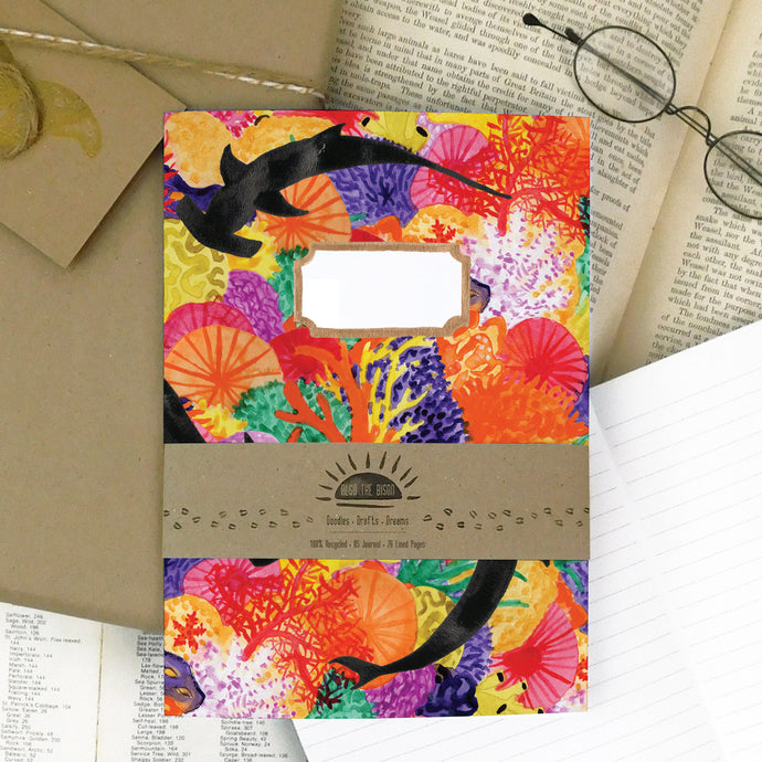 Anthozoa Coral Reef Print Lined Journal