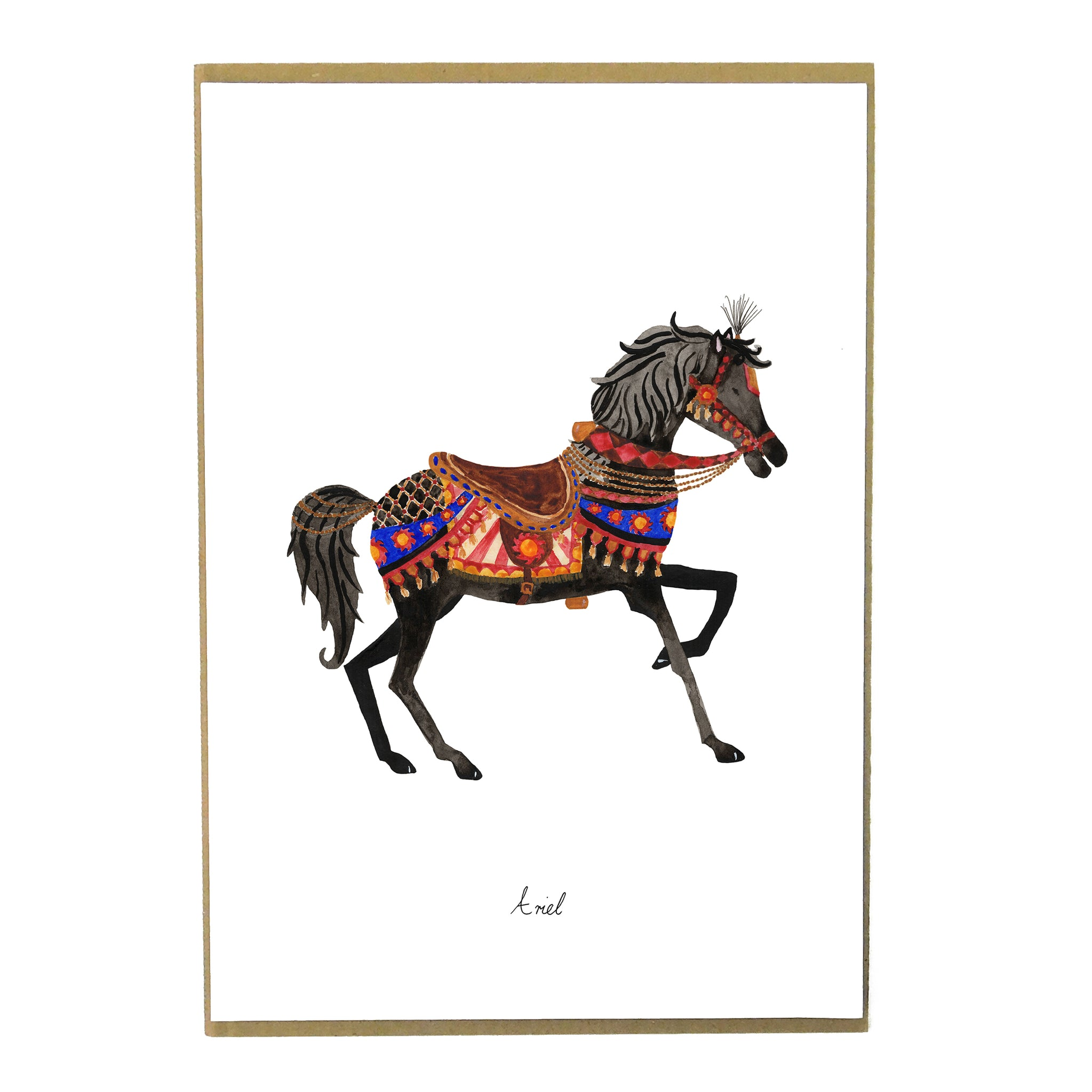 Le Carrousel Ariel The Carousel Horse Art Print Also The Bison