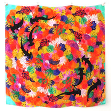Load image into Gallery viewer, Anthozoa Coral Reef Print Silk Scarf