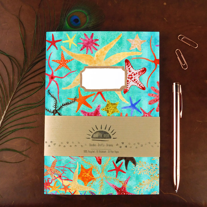 Asterozoa Starfish Print Notebook